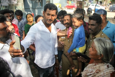 Vishal submits petition to CEO, tweets to President, PM