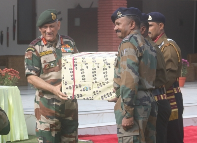 Army chief meets differently-abled children