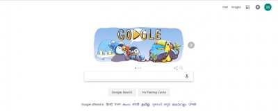 Google doodle celebrates December festivities