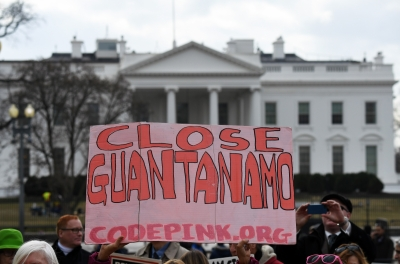 Protesters rally against Guantanamo Bay detention camp in US