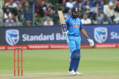 Centurion Rohit guides India to challenging 274/7 in 5th ODI