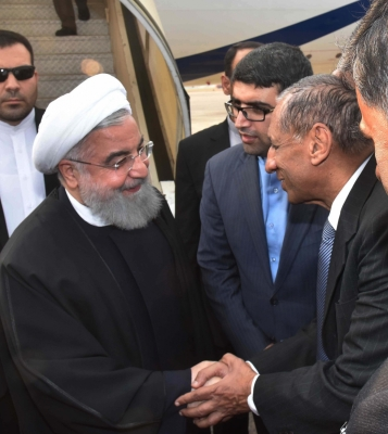 Iranian President arrives in Hyderabad