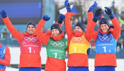 Norway takes two golds to top medals table at Winter Olympics
