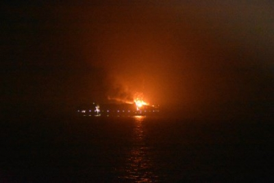 Container ship fire: 3 charred bodies found on board
