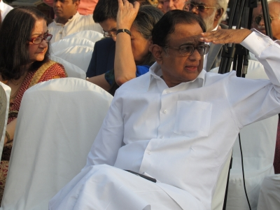 Chidambaram missing, CBI pastes notice on his gate (Lead)
