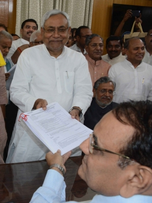 Bihar council polls: Nitish Kumar, Sushil Modi file nomination papers