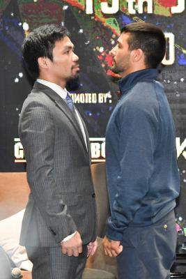 Pacquiao, Matthysse predict action-packed welterweight title fight