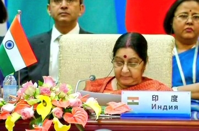 Sushma Swaraj lambasts Pakistan at SCO meet (Lead)