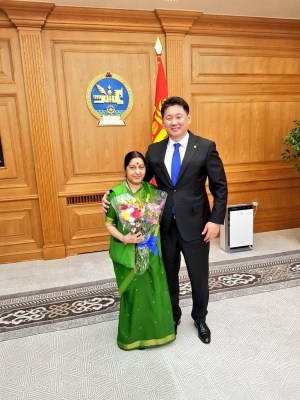 India revitalising Buddhist heritage through ties with Mongolia: Sushma