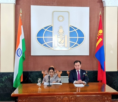 Sushma Swaraj calls on Mongolian PM, other leaders
