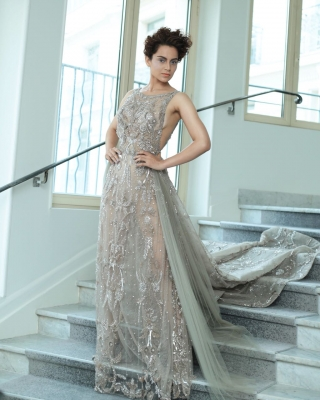 Kangana styles up in sheer, backless gown for Cannes red carpet debut
