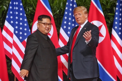 Kim, Trump commit to  complete denuclearization  of Korean Peninsula