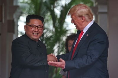 Kim-Trump shake hands, begin new era of  terrific relationship  (Second Lead)
