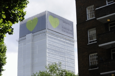 Fires break out in towers in Britain on Grenfell anniversary