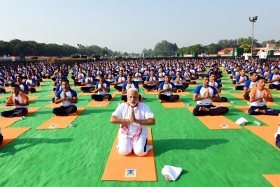 Modi says yoga can unite conflict-ridden world; record set in Kota (Roundup)