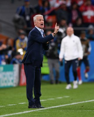 France coach lauds team s progress to knockout stage