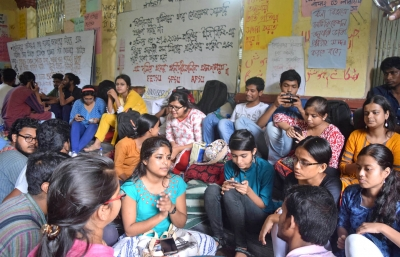 JU row: VC meets agitating students, urges them to withdraw hunger strike