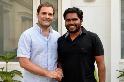 Tamil film director Pa. Ranjith meets Rahul Gandhi (Lead)