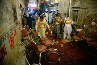 Political leader among 14 killed in Pakistan suicide blast