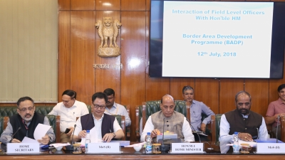 Rajnath reviews border area development programme