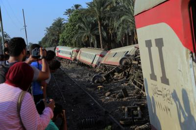 55 Hurt in train accident in Egypt