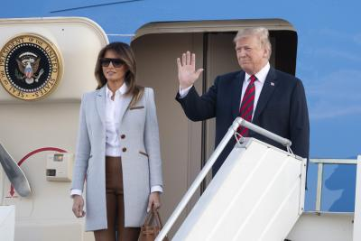 Trump arrives in Helsinki, to hold summit with Putin (Lead)