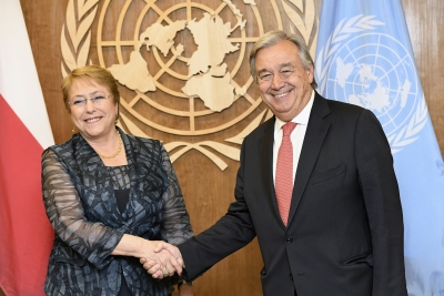 General Assembly OKs ex-president of Chile as UN human rights chief