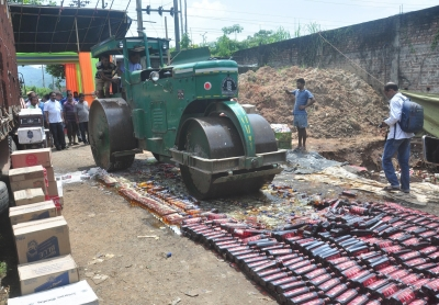 Illegal liquor valued at Rs 168 crore destroyed in Assam