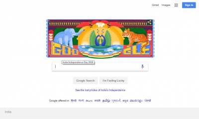Google celebrates I-Day with  truck art  doodle