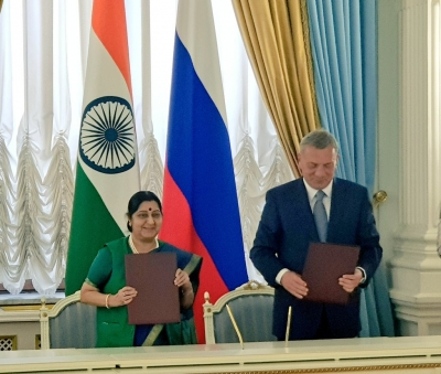 India, Russia set two-way investment target of $50 bn (Lead)