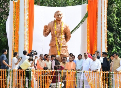 UP governor, CM unveil Upadhyaya s statue