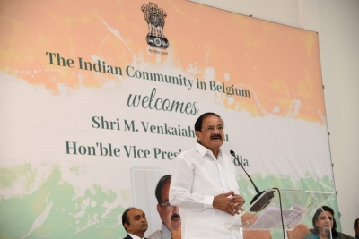 Vice President addresses Indian diaspora in Belgium