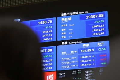 Tokyo stocks close sharply lower on global economic concerns