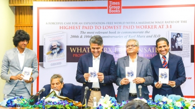 Manish Tewari launches book on economic justice