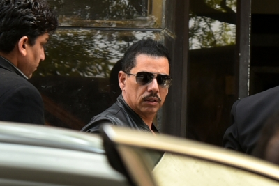 Vadra questioned for over 3 hours in money laundering case (Lead)