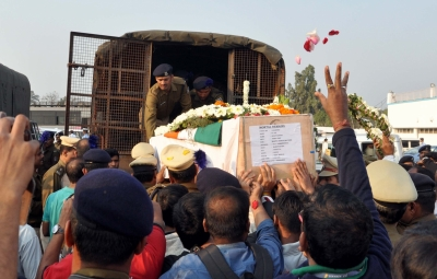 Thousands turn up for slain CRPF constable Sudip Biswas' last rites
