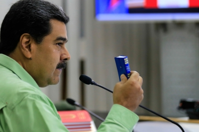 Maduro suspends dialogue with opposition for backing US embargo