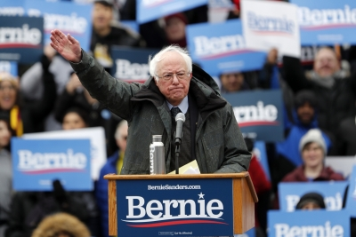 Sanders boasts about previous wins, takes aim at Biden