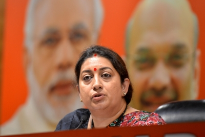 Image result for Smriti unleashes 'Shoe-war' in Amethi