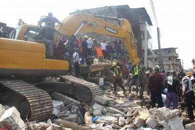 Five killed after buildings collapse in Nigeria