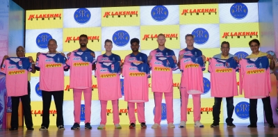 Rajasthan Royals unveil pink jersey for IPL XII