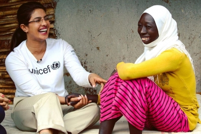 Priyanka spends time with refugee children in Ethiopia