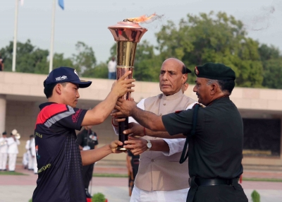 Victory Flame makes first halt at Jindal University