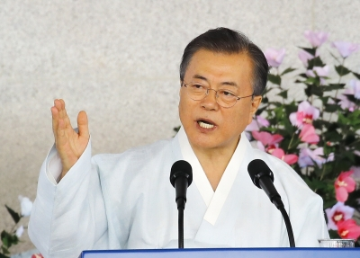 S.Korean Prez urges Japanese PM for resolution on forced labour