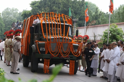 Arun Jaitley cremated with full state honours (Lead)