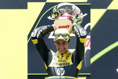 Alex Rins snatches victory from Marquez in British MotoGP