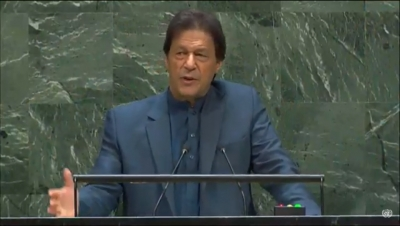 India walks out of UNGA protesting Imran's diatribe (3rd Ld)