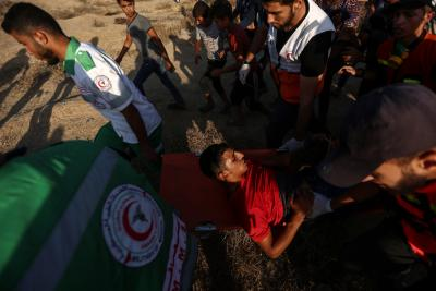 69 Palestinians hurt in clashes with Israeli soldiers in Gaza