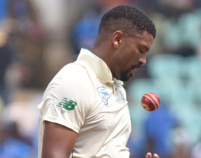 Philander fined, handed demerit point in farewell Test