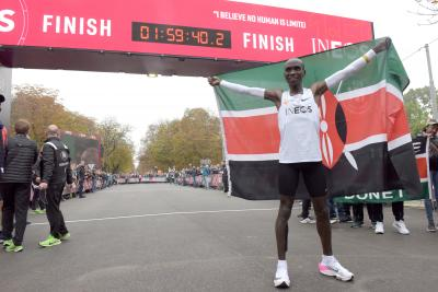 Kipchoge shortlisted for World Male Athlete of the Year